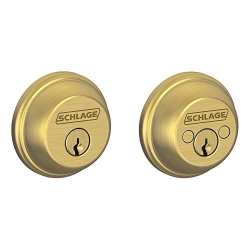 Double Cylinder Deadbolt, Satin Brass (B62 N 608)
