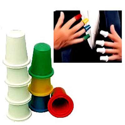 Doowops Pro Thimbles Set (Multicolor, 8pcs) Magic Tricks Appear Disappear Magic Accessories Gimmick Prop Comedy: Toys & Games