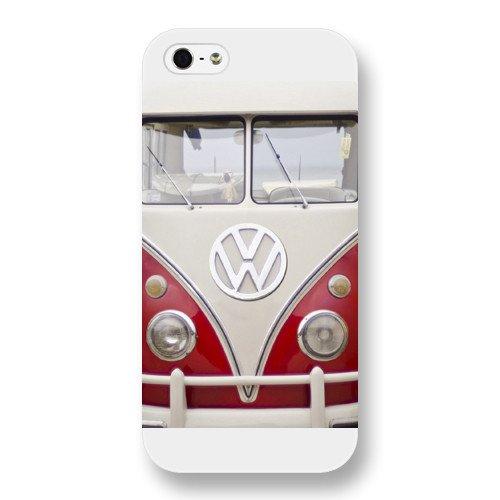 UniqueBox Customized White Frosted VW Minibus iPhone 5 5s case
