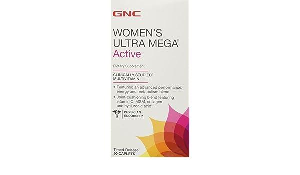 GNC WOMENs Ultra Mega ACTIVE 90 Caplets by GNC Womens Ultra Mega: Amazon.es: Salud y cuidado personal