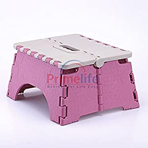 Primelife Folding Plastic Step Stool 7 Inch (Color May Vary)