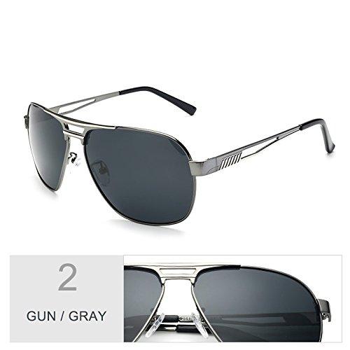 Azul Piloto Plata Aviador Gafas Revestimiento Color TIANLIANG04 De Polarizadas Gafas Gafas Guía Oculos De Macho Espejo Gun Gray Sol De Hombres De PU4pqUHx