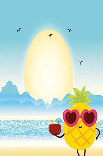 Notizbuch Coole Ananas am Strand: Notizbuch kariert mit 120 karierten Seiten Din A5 perfekt als Notizheft, Tagebuch und Journal Geschenk mit sommerlicher Ananas (German Edition) (Ananas Mit Sonnenbrille)