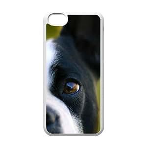 Dog IPhone 5C Cases, Case for Iphone 5c for Boys Mens Designer Okaycosama - White