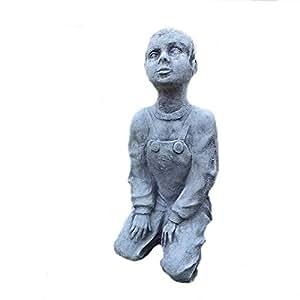 Figura de piedra Figura de mujer jardinera Jardín Estatua mujer Estatua Busto 45cm Decoración Frost libre
