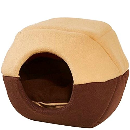 Soft Pet Bed Cave Cozy Pet Bed House with Removable Cushion Mat Inside for Dog Cat Puppy Kitten Competely Washable Breathable Material (House Pet Bed)