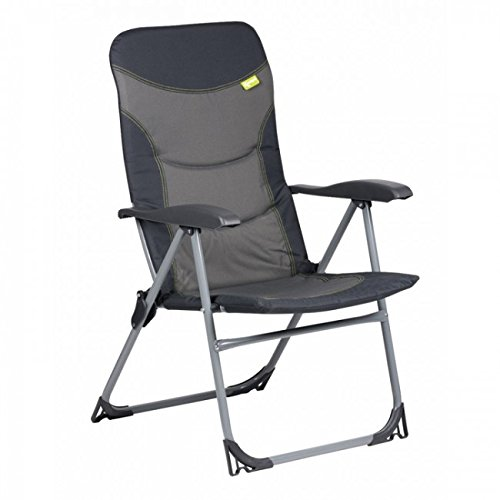 Kampa Skipper Reclining Camping Chair | Charcoal (Charcoal)