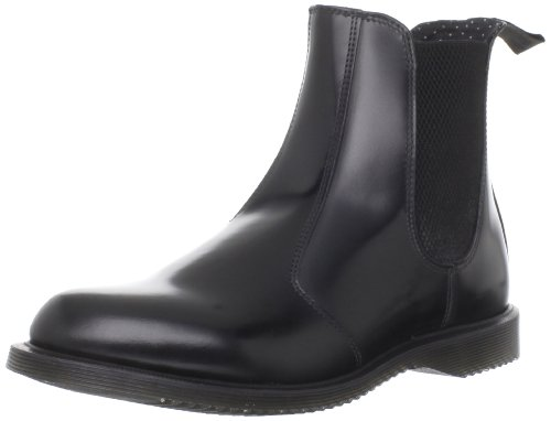 Dr. Martens Women's Vegan Flora Chelsea Boot, Black, 5 UK/7 B US