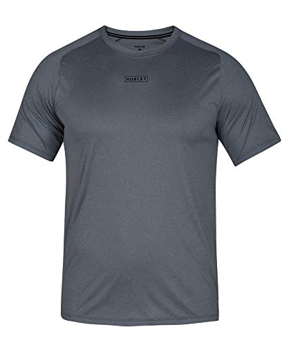 - Hurley Men's Quick Dry Short-Sleeve T-Shirt Rash-Guard, Cool Grey Heather, XL