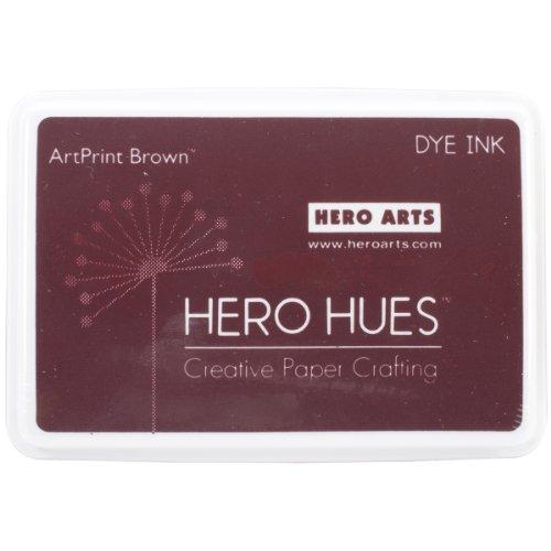 Hero Arts Rubber Stamps Dye Ink, ArtPrint Brown