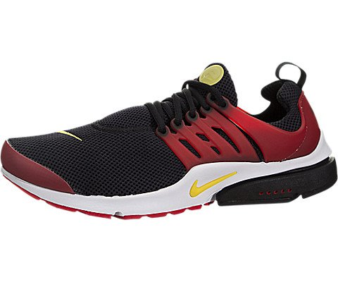 nike air presto essential mens running trainers 848187 sneakers shoes (US 10, black tour yellow university red 006)