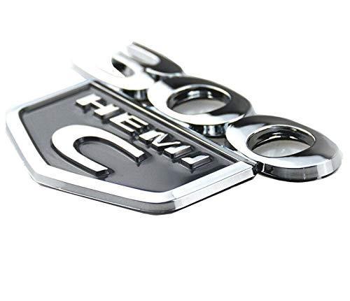 (1pcs 300C HEMI Emblem Badge 3d OEM Sticker Fit for Chrysler 300 C HEMI 2005 2006 2007 2008 2009 2010-2015 (Chrome/Black))