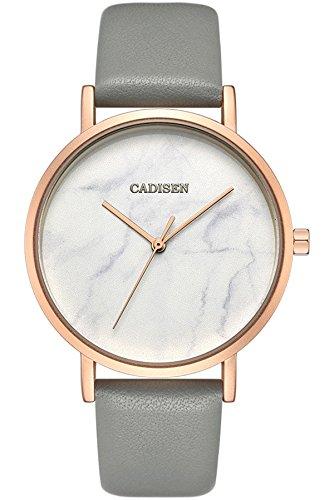 Ladies Watch Elegant Marble Fashion Casual Analog Quartz Dress Leather Watches For Women