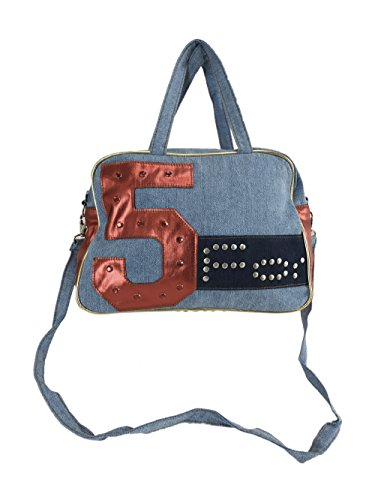 Fornarina Exalo 5 Red Denim Women Bag with Removable Strap
