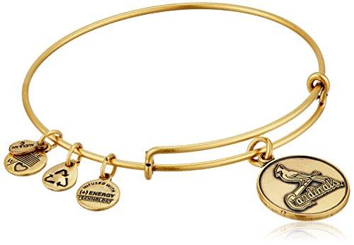 Alex and Ani St. Louis Cardinals Primary Logo Expandable Rafaelian Gold Bangle Bracelet