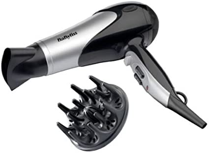 BABYLISS DRY AND CURL 2100W HAIR DRYER WITH DIFFUSER AND NOZZLE With Cool shot button