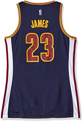 NBA Cleveland Cavaliers LeBron James #23 Women's Replica Home Jersey, (Lebron James Authentic Home Jersey)