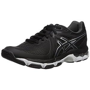 ASICS Women's Gel-Netburner Ballistic Volleyball-Shoes, Black/Dark Grey/White, 10 Medium US