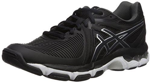 ASICS Women's Gel-Netburner Ballistic Volleyball Shoe, Black/Dark Grey/White, 9 Medium US by ASICS (Image #1)