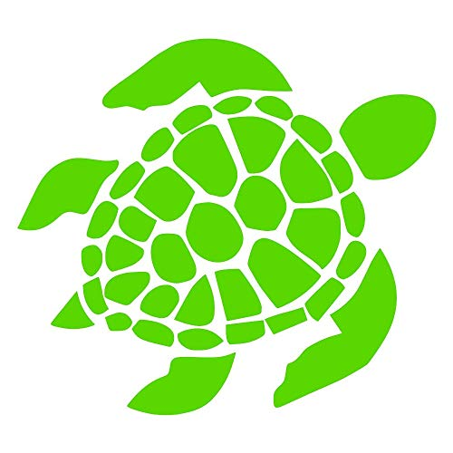 Sea Turtle [Pick Any Color] Vinyl Transfer Sticker Decal for Laptop/Car/Truck/Window/Bumper (2in x 1.8in (4-Pack of Minis), Green)