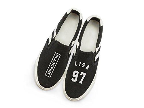 Fanstown Kpop Blackpink Sneakers Chaussures De Toile Fanshion Memeber Hiphop Style Support De Ventilateur Avec Lomo Card Lisa