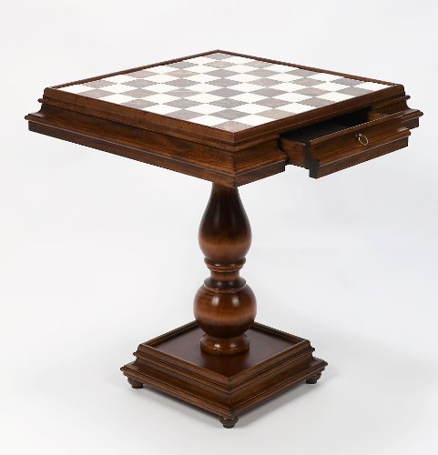 (Bello Games Collezioni - Monticello Luxury Chess/Checkers Table From Italy)