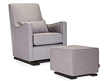 Amazon.com: Monte Design Upholstered Modern Nursery Luca Glider Chair And  Ottoman, Pebble Grey: Baby