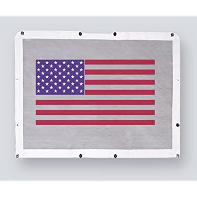 Belmor BS-1988AF-1 Patriotic USA Flag Bug Screen Truck Grille Cover for 1986-2007 Peterbilt 357, 375, 377, 378, 379 (Short Nose): Automotive