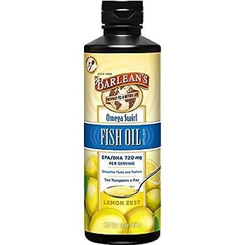Barlean's  Omega Swirl Fish Oil Lemon Zest, 16-Ounce Bottle-Packing May Vary