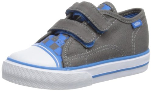 Vans Big School - Zapatillas deportivas de lona infantil, color gris, talla 9.5 UK: Amazon.es: Zapatos y complementos