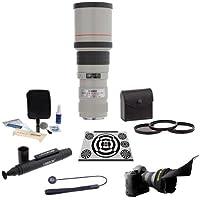 Canon EF 400mm f/5.6L USM AutoFocus Lens, USA - Bundle with 77mm Filter Kit, Flex Lens Shade, LensAlign MkII Focus Calibration System, Lens Cap Leash, Pro Lens Cleaning Kit, LensPen Lens Cleaner