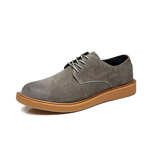 Xujw-shoes, 2018 Scarpe Stringate Basse Scarpe stringate basse da uomo stile oxford (Color : Giallo, Dimensione : 41 EU) Dark Gray