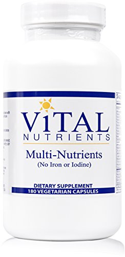 Vital Nutrients - Multi-Nutrients (No Iron or Iodine) - Comprehensive Multi-Vitamin/Mineral Formula With Potent Antioxidants - 180 Capsules