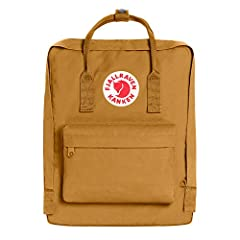 Popular backpack model Kånken crafted in durable fabric with a zip which gives access to the main compartment.