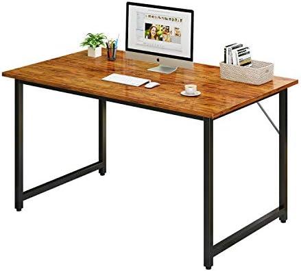 Dlrnwiro Computer Desk 47″ Home Office Desk Simple Writing Desk Work Desk Modern Vintage Desk Office Table Sturdy Laptop Desk PC Gaming Desk Home Desk Workstation