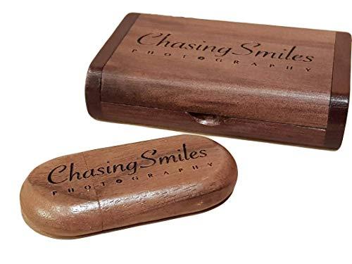 Customize Personalised Laser Engraved Solid Wooden USB Flash Drive USB Box Wedding Photo Memory Storage Disk,Wedding…