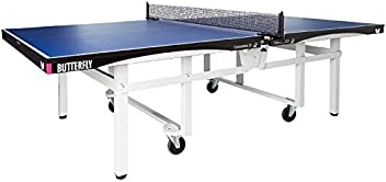 Butterfly Centrefold 25 Table Tennis Table | Ships Fully Assembled | 1 Inch ITTF Tournament Approved Top | Top Butterfly Ping Pong Table | Foldable Rollaway Table Tennis Table | 5 Year Warranty Professional Ping Pong Table