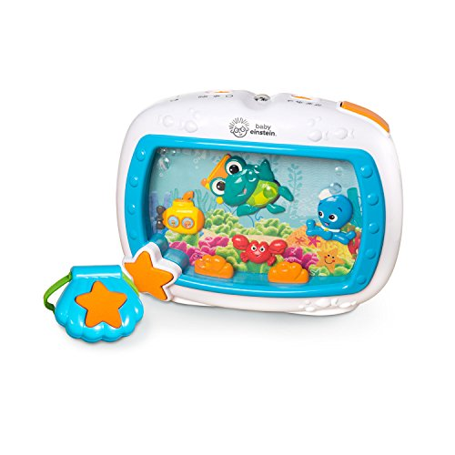 Wonders Aquarium Ocean - Baby Einstein Sea Dreams Soother Crib Toy with Remote, Lights and Melodies for Newborns and up