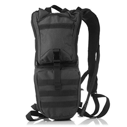 El Montar Trazador De Líneas Grande Boca De La Bolsa Mochila Mochila Impermeable Deportes Al Aire Libre,Khaki black