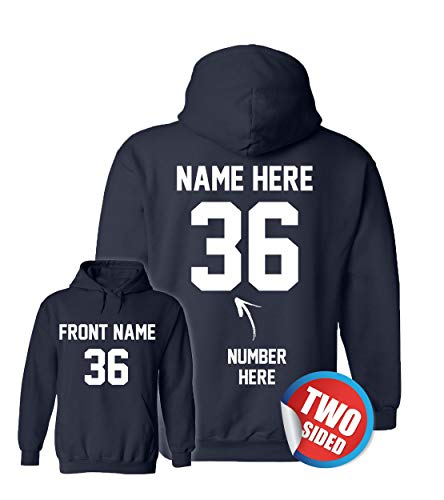 Custom Hoodies for Boys - Customized Sweatshirts - Personalized Hoodys for Football ()