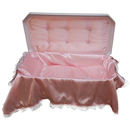 Economy Pet Bed (Pet Memory Shop Deluxe Pet Casket - Choose Color - Burial Casket (Medium, White/Pink))