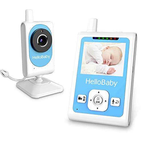 Motion Trigger Recording - HelloBaby Wireless Video Baby Monitor with Night Vision & Temperature Monitoring, 2 Way Talk Talkback System and Motion Detection, Lullabies