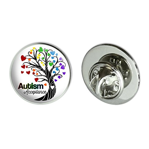 GRAPHICS & MORE Autism Acceptance Tree of Life with Hearts Metal 0.75