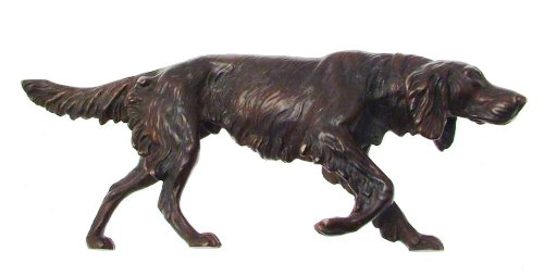 Hand cast solid bronze red setter figure head down CLT668 Bronze Figures