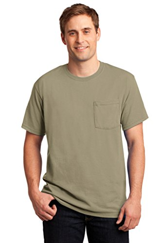 - Big Mens 50/50 Cotton/Poly Pocket T-Shirt by JERZEES® (Big & Tall and Regular Sizes)