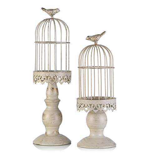 Birdcage Candle Holder, Vintage Candle Stick Holders, Wedding Candle Centerpieces for Tables, Iron Candlestick Holder Home Decor (Candle Holder 2#)