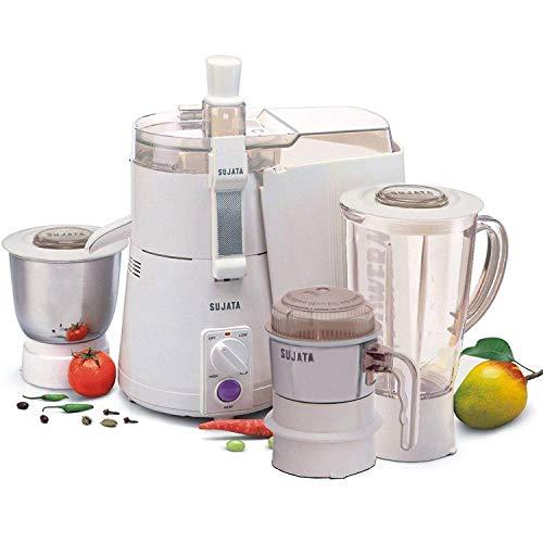 Sujata Powermatic Plus + CH 900-Watt Juicer Mixer Grinder (White)