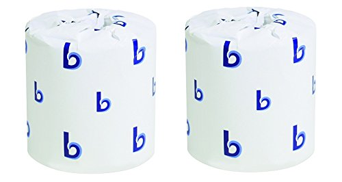 Boardwalk BWK 6144 Two-Ply Toilet Tissue, White, 400 Sheets/Roll (Pack of 96) (2-(Pack of 96))