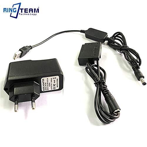 Pukido USB cable ack-e18+dr-e18 LP-E17 dummy battery+5V 3A charger for Canon EOS 750D Kiss X8i T7i T6i 760D T6S 77D 800D 200D Rebel SL2 Plug Type: EU