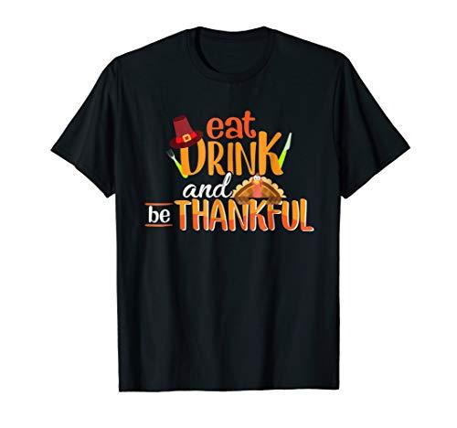 Halloween Shirt Decorating Ideas (EAT DRINK BE THANKFUL Fall Gift Shirts Thanksgiving)